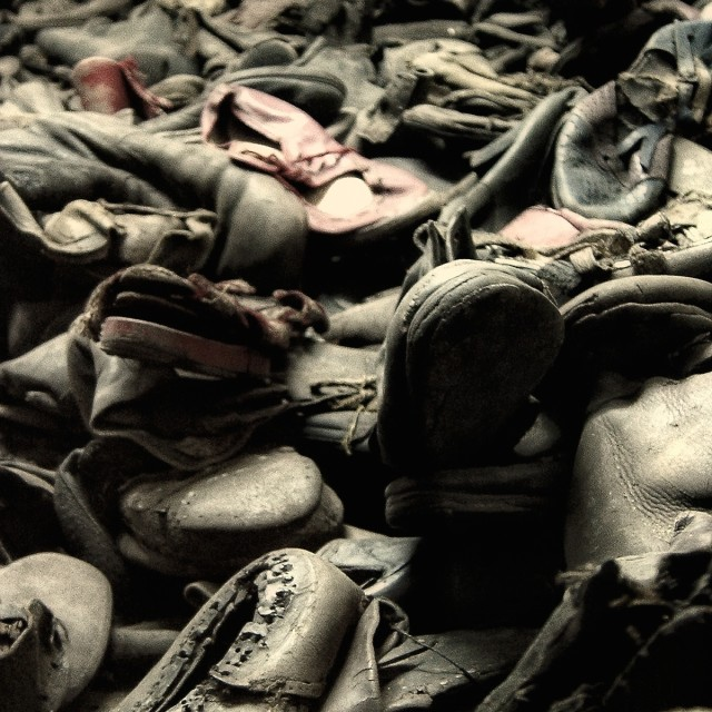 """Auschwitz-Birkenau Shoes"" stock image"