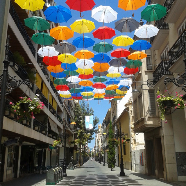 """Sunny Umbrellas"" stock image"