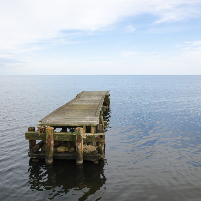 """Deserted jetty"" stock image"