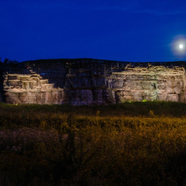 """""""Illuminated cliffs"""" stock image"""