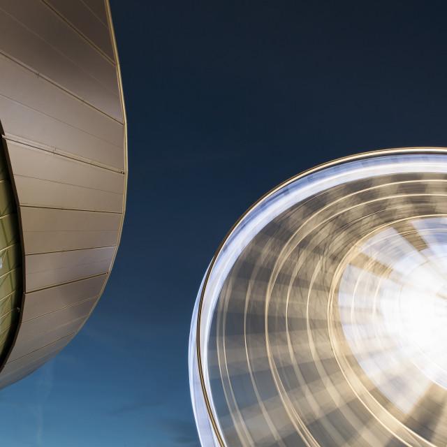 """Liverpool Echo Arena & Big Wheel"" stock image"