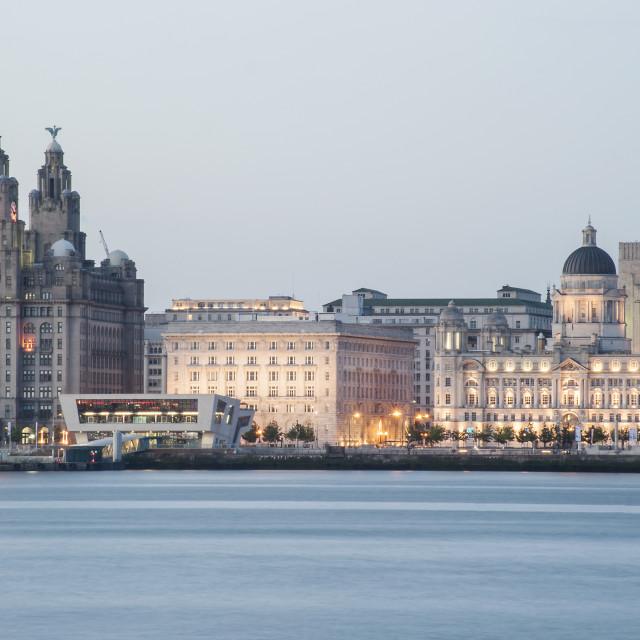 """Liverpool Three Graces"" stock image"