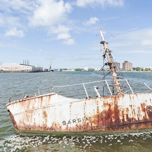 """""""Submerged Ship"""" stock image"""