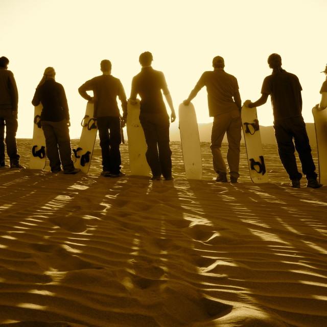 """""""Sandboarders"""" stock image"""