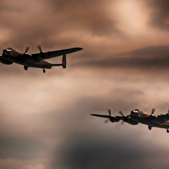 """Lancasters Together Again"" stock image"