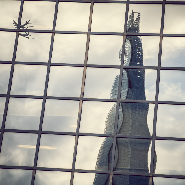 """Shard Reflected"" stock image"