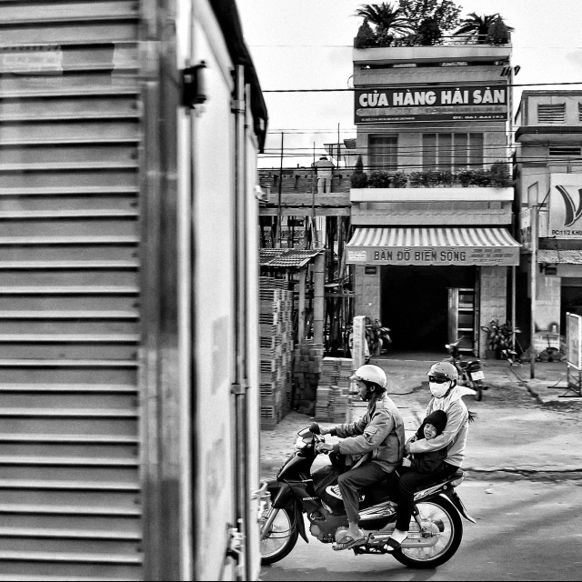 """Take a ride, Saigon, Vietnam"" stock image"