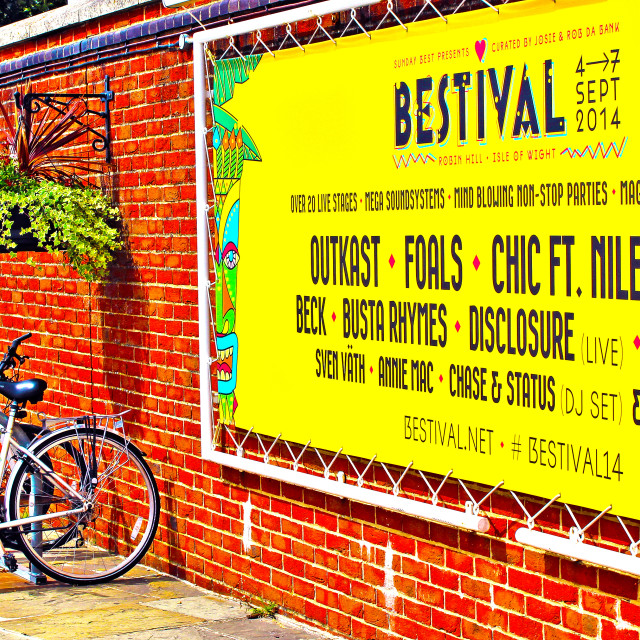 """Bestival Poster"" stock image"