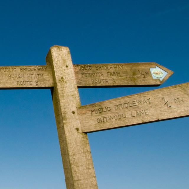 """Signpost"" stock image"