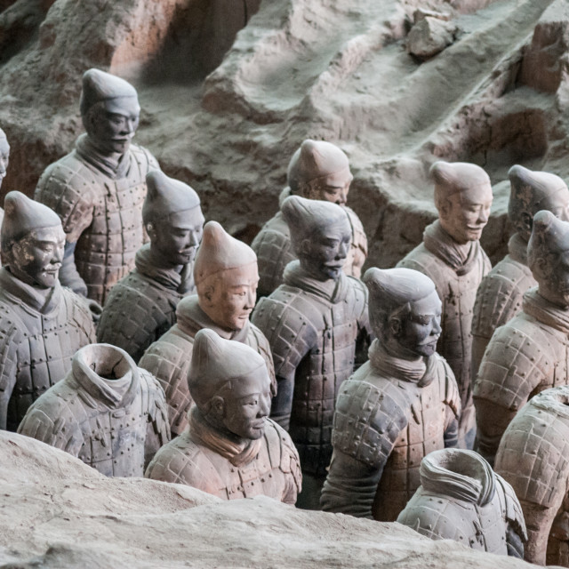 """Terracotta Warriors Pit 1"" stock image"