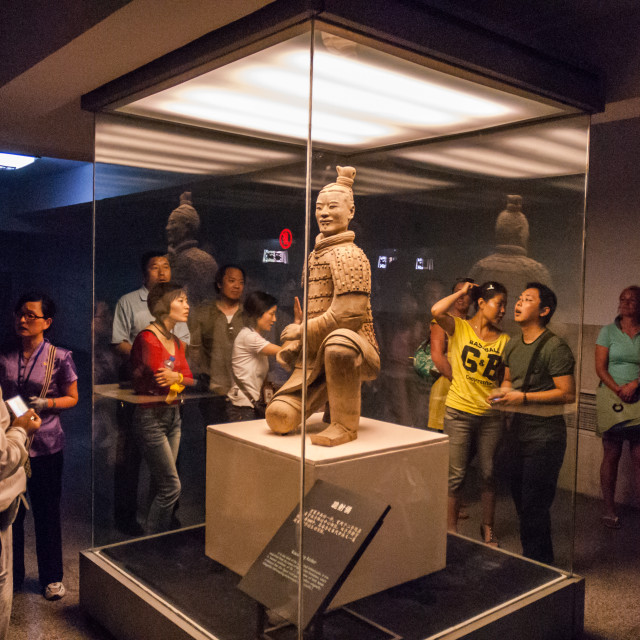 """Terracotta Warrior, Pit 2, Xian, Shaanxi, China"" stock image"