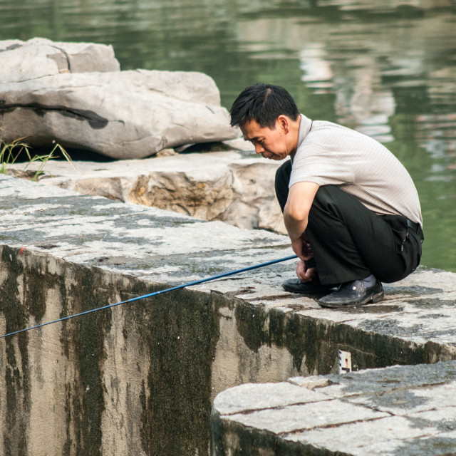 """Fisherman, Guilin, China"" stock image"