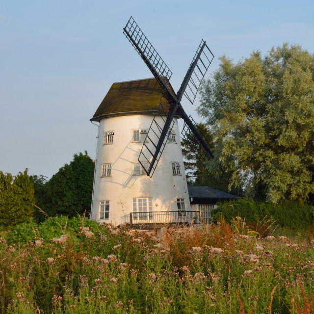 """Gibbet Mill Windmill Saughall Chester"" stock image"