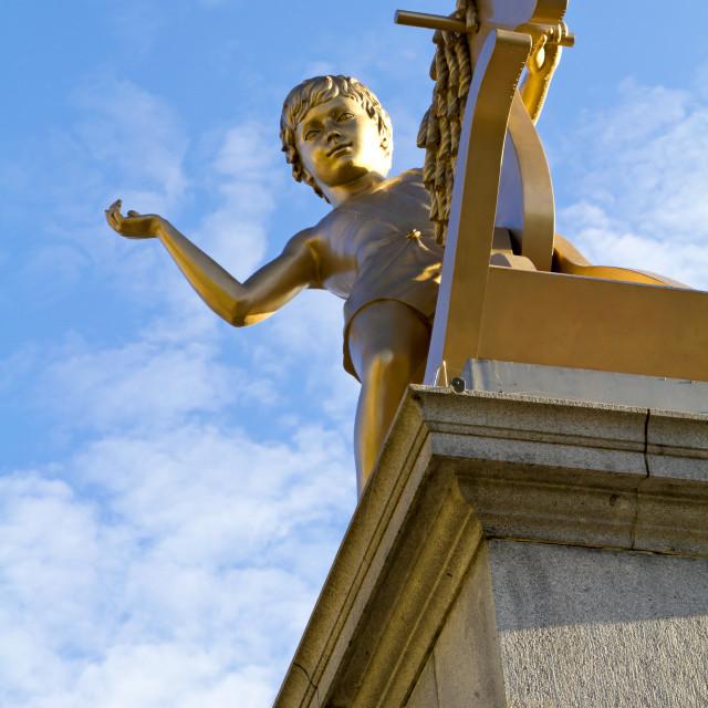 """Golden statue"" stock image"