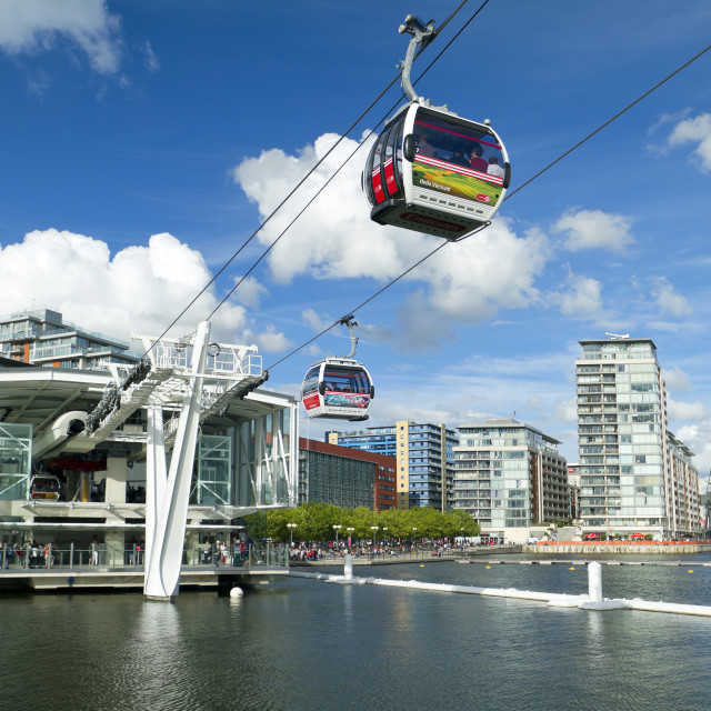 """Emirates cable car"" stock image"