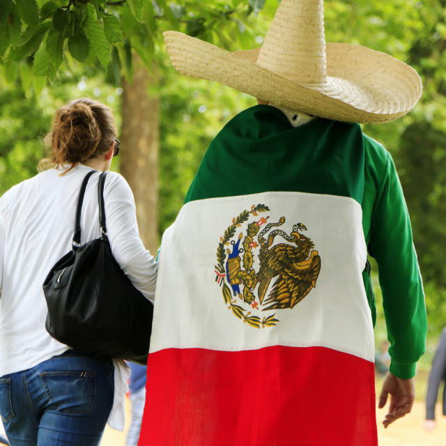 """Supporters of Mexico"" stock image"