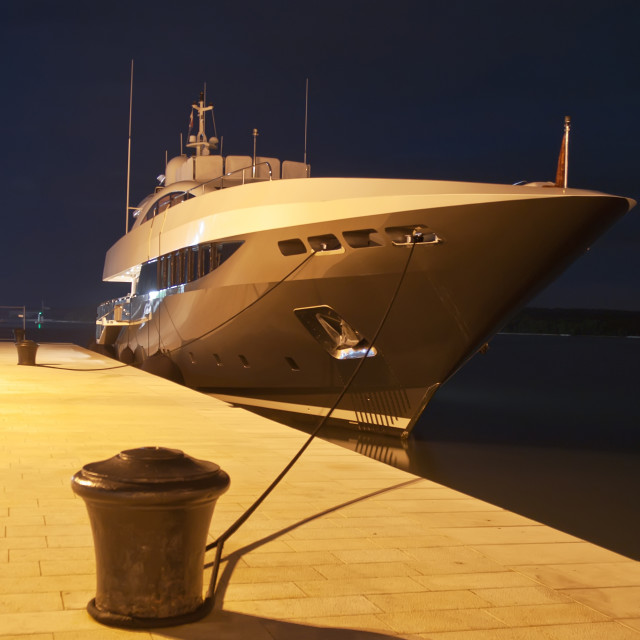 """Yacht in port"" stock image"