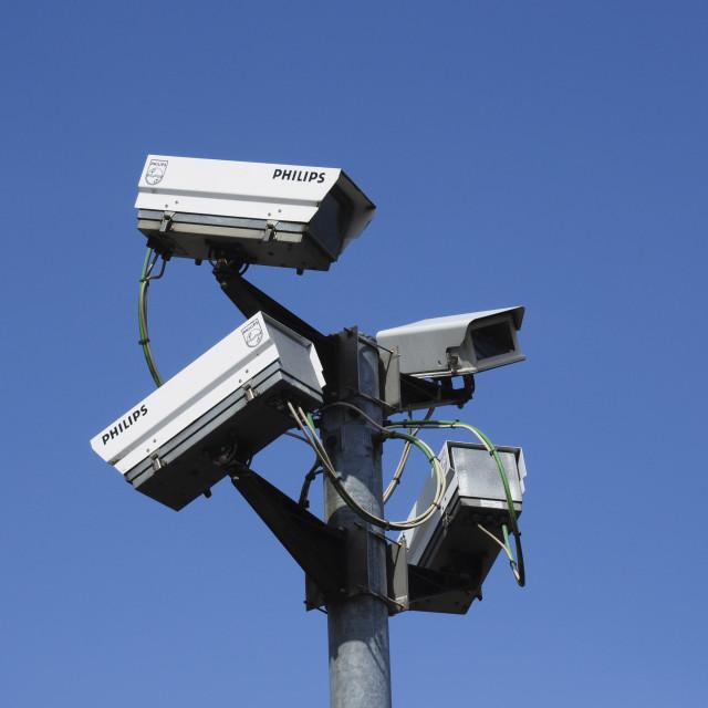 """CCTV Surveillance Cameras"" stock image"