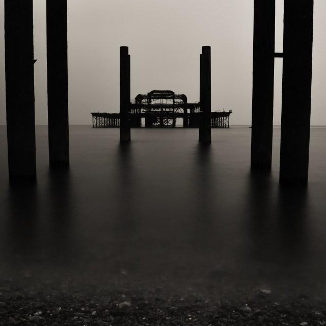 """west pier, brighton"" stock image"