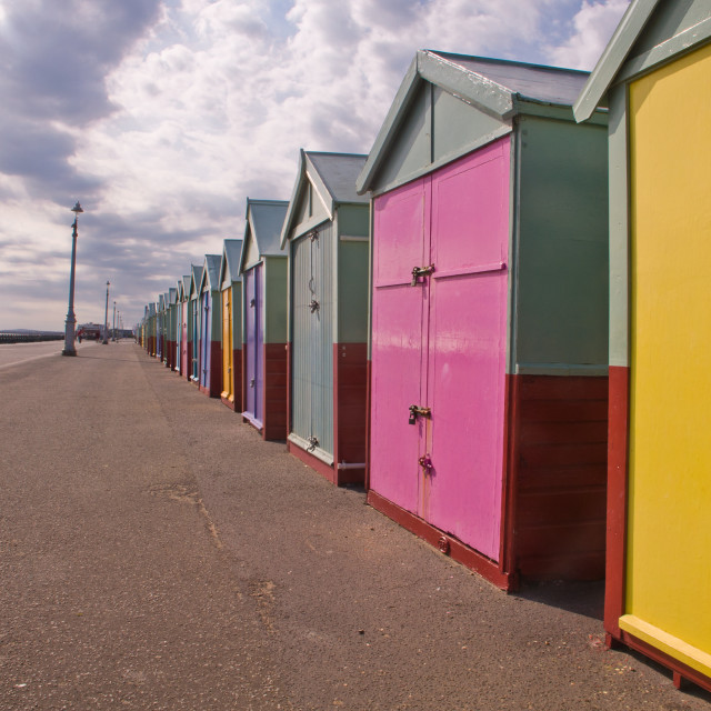 """Hove beach huts 3"" stock image"