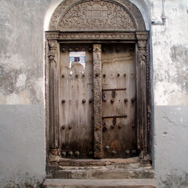 """Stone Town door"" stock image"