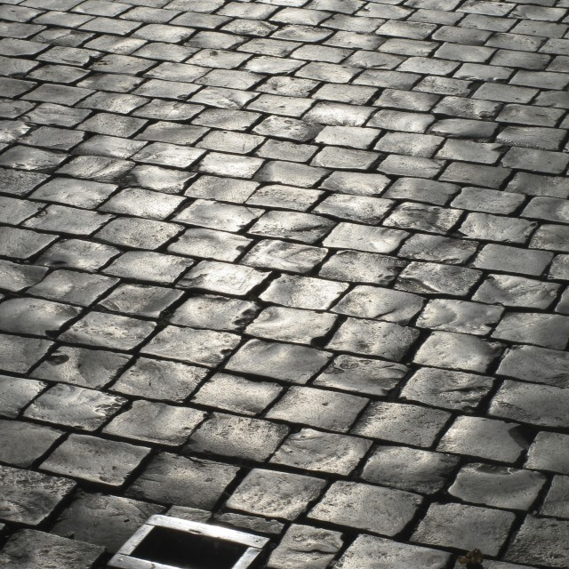 """Cobbled street"" stock image"