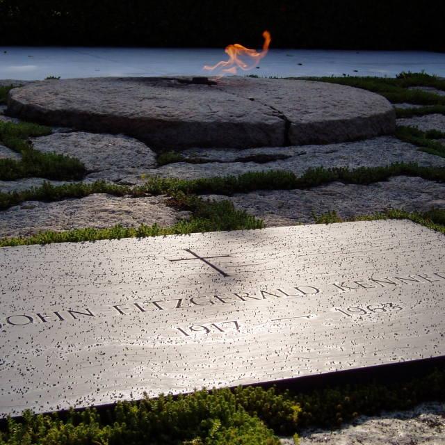 """John F Kennedy's Grave, Arlington."" stock image"