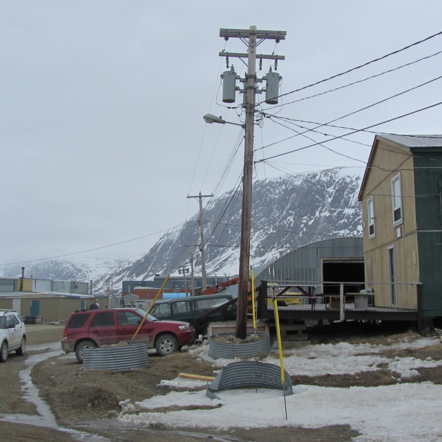 """Pangnirtung Baffin Island."" stock image"