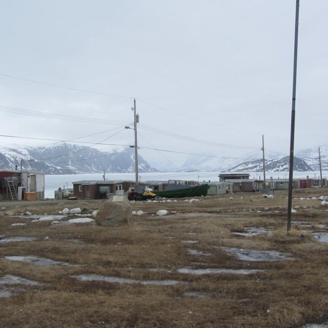 """Pangnirtung, Baffin Island, Nunavut, Canada"" stock image"