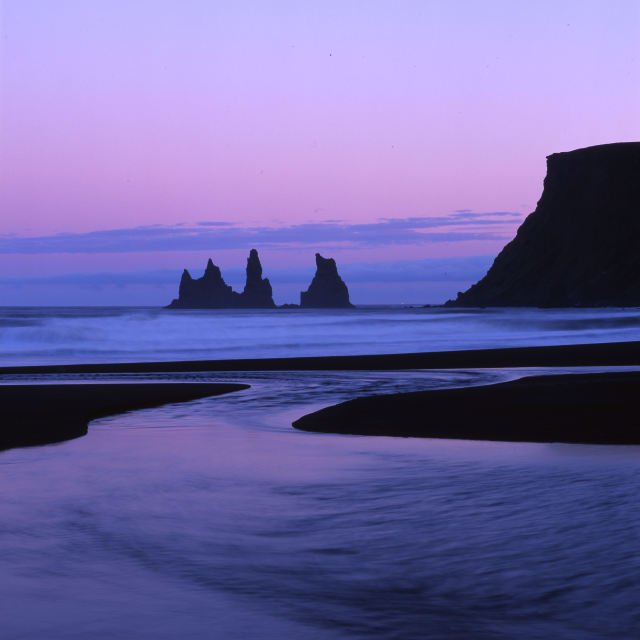 """Twilight at Vik"" stock image"