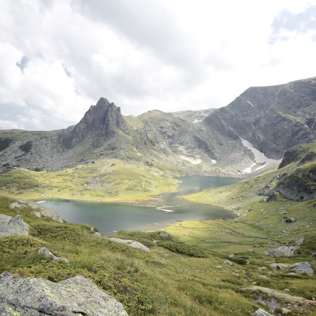"""Landscape at the Rila Lakes, Bulgaria"" stock image"