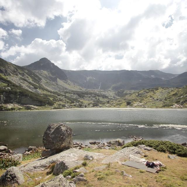"""Landscape at the Rila Lakes, Bulgaria"" stock image"