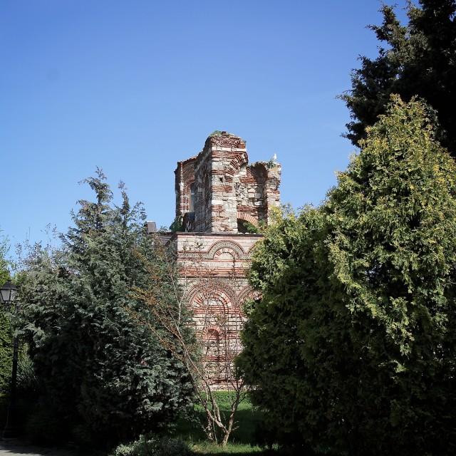 """Ancient Church in Sozopol"" stock image"