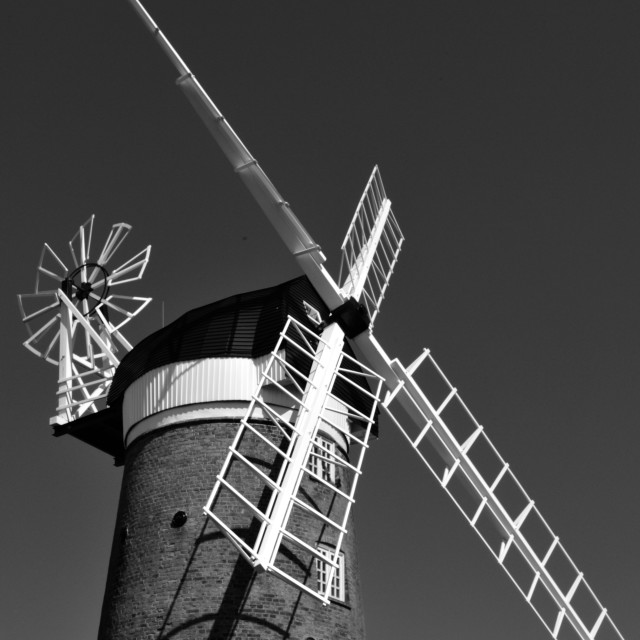 """Mill, Weybourne, Norfolk"" stock image"