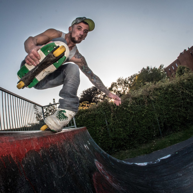 """Rollerblade Halfpipe"" stock image"