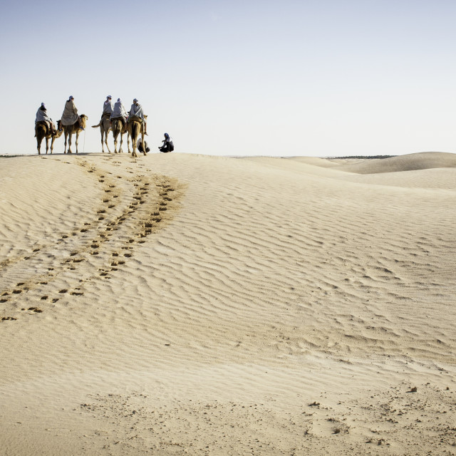 """Sahara Treck"" stock image"