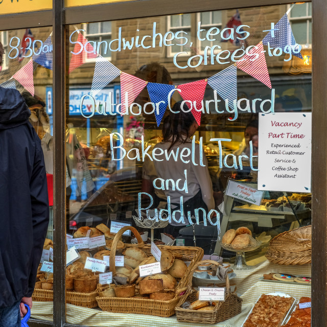 """""""Bakewell Tart Shop ."""" stock image"""