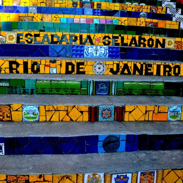 """""""Escadaria Selaron"""" stock image"""