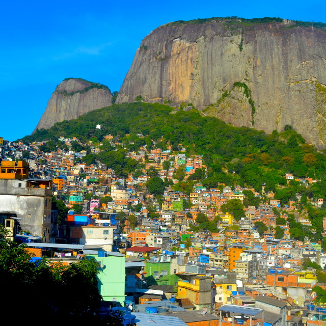 """Favela Mountain"" stock image"