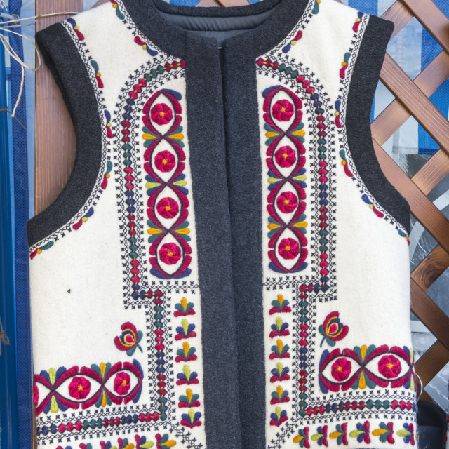 """Romanian traditional vest"" stock image"