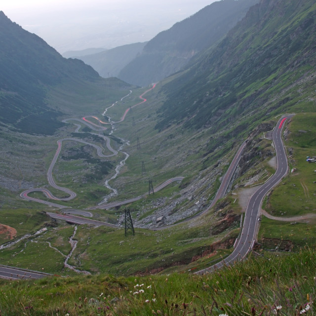 """""""Curvy road in mountains"""" stock image"""