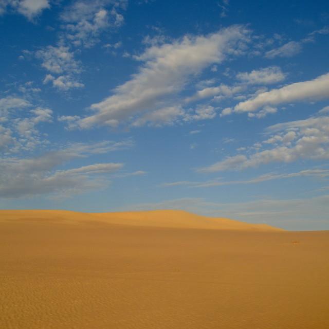 """""""Sahara Clouds"""" stock image"""