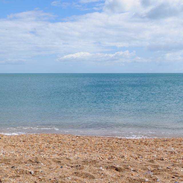 """South Devon deserted beach"" stock image"