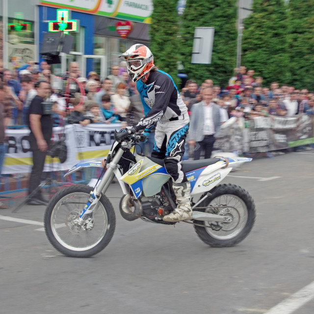 """Enduro rider"" stock image"