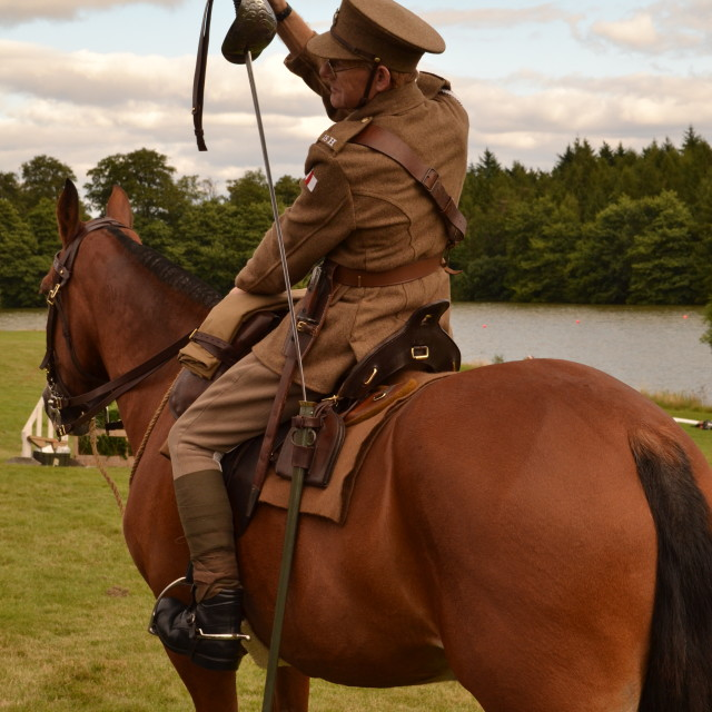 """First World War Cavalry"" stock image"