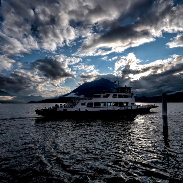 """Car Ferry on Lake Como"" stock image"