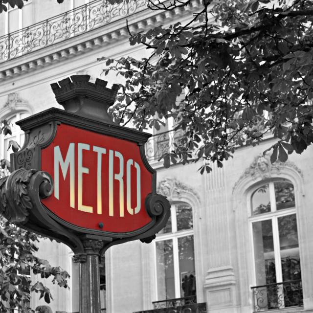 """""""Metro, Paris"""" stock image"""