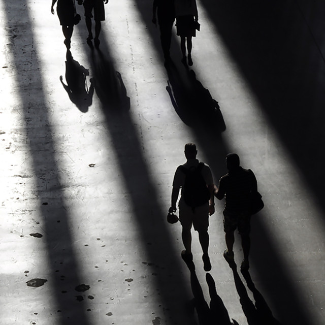 """people and shadows"" stock image"