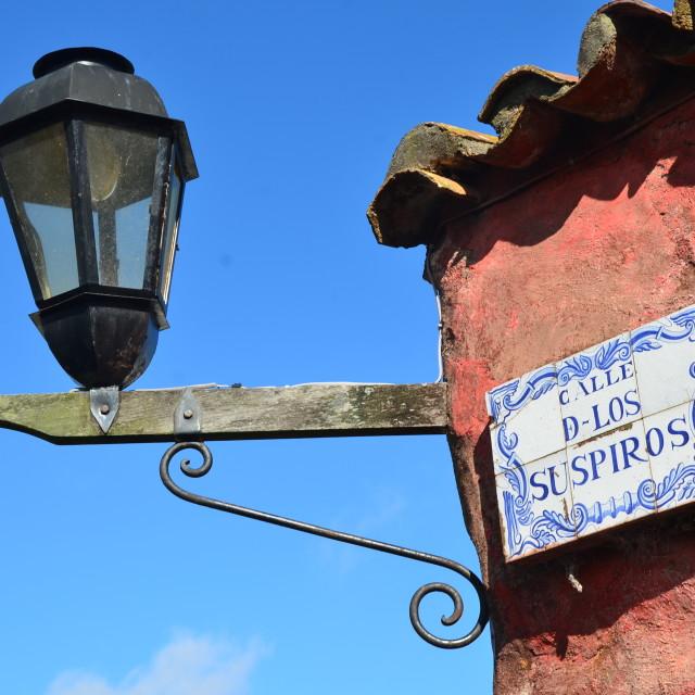 """""""Calle de los Suspiros"""" stock image"""