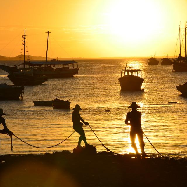 """""""Três Pescadores"""" stock image"""